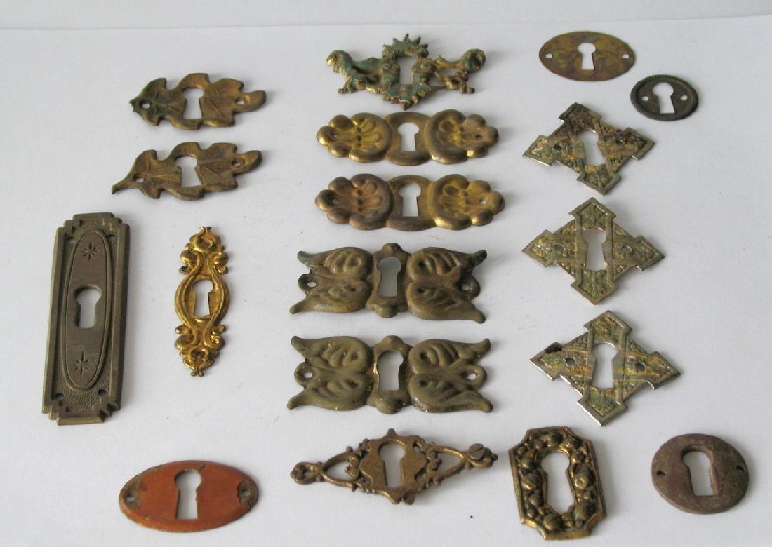 Group of Vintage Furniture Key Escutcheons