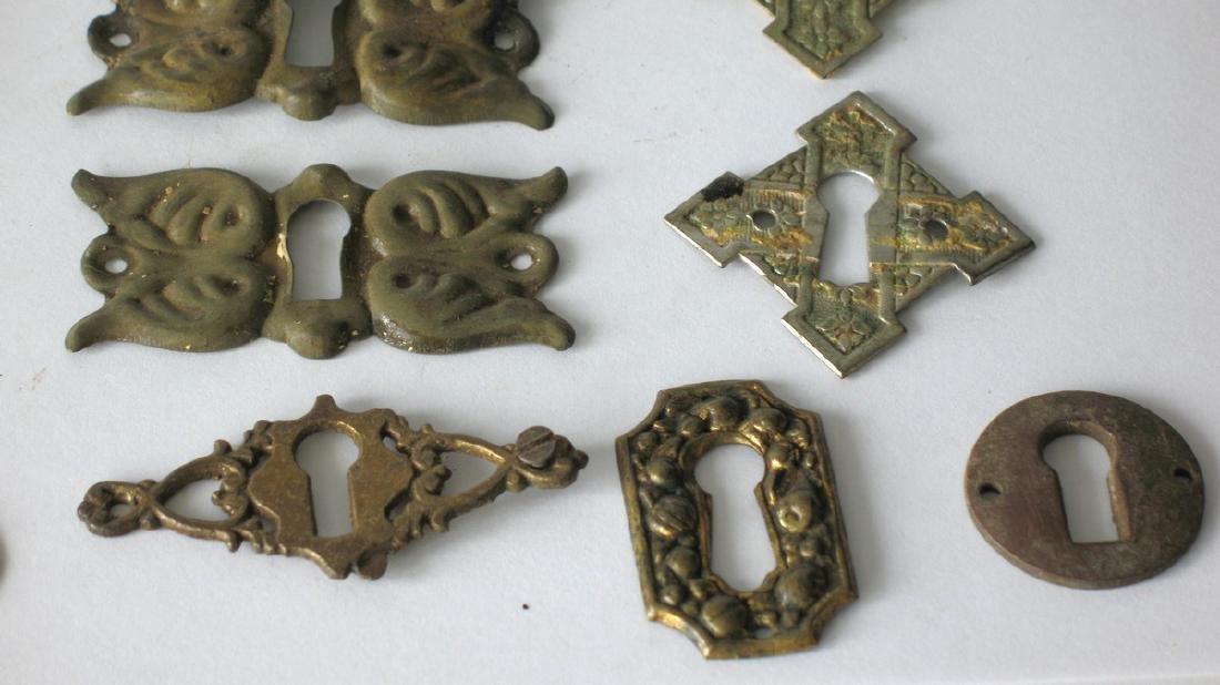 Group of Vintage Furniture Key Escutcheons - 2
