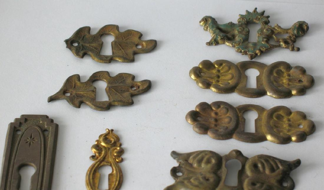 Group of Vintage Furniture Key Escutcheons - 3