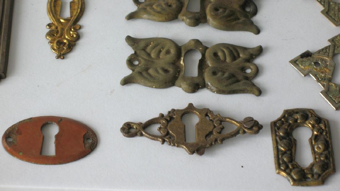 Group of Vintage Furniture Key Escutcheons - 4
