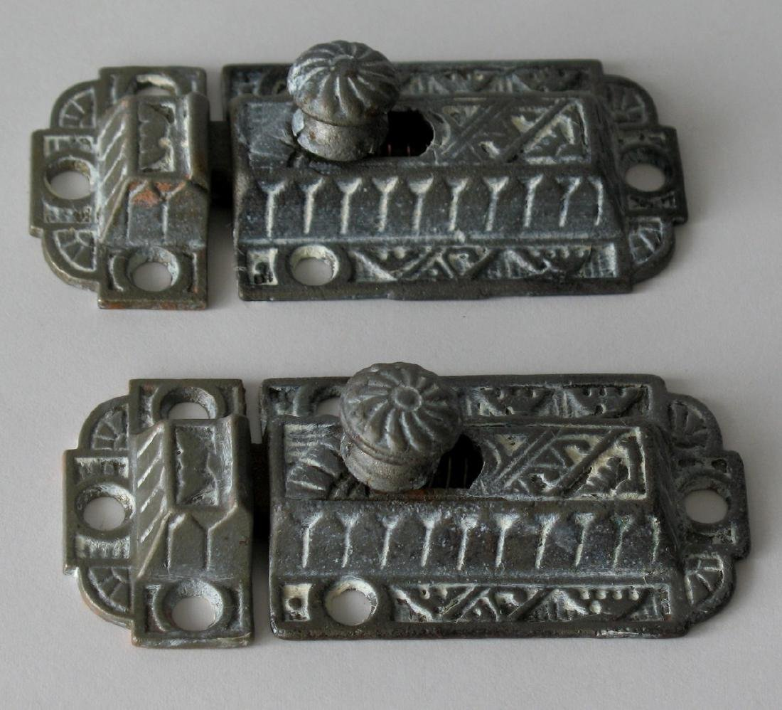 Vintage Cast Iron Cupboard Latches - 2