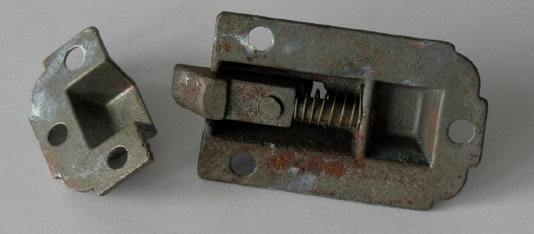 Vintage Cast Iron Cupboard Latches - 3