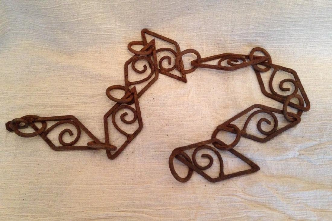 Fancy Iron Chain Early 20th Century