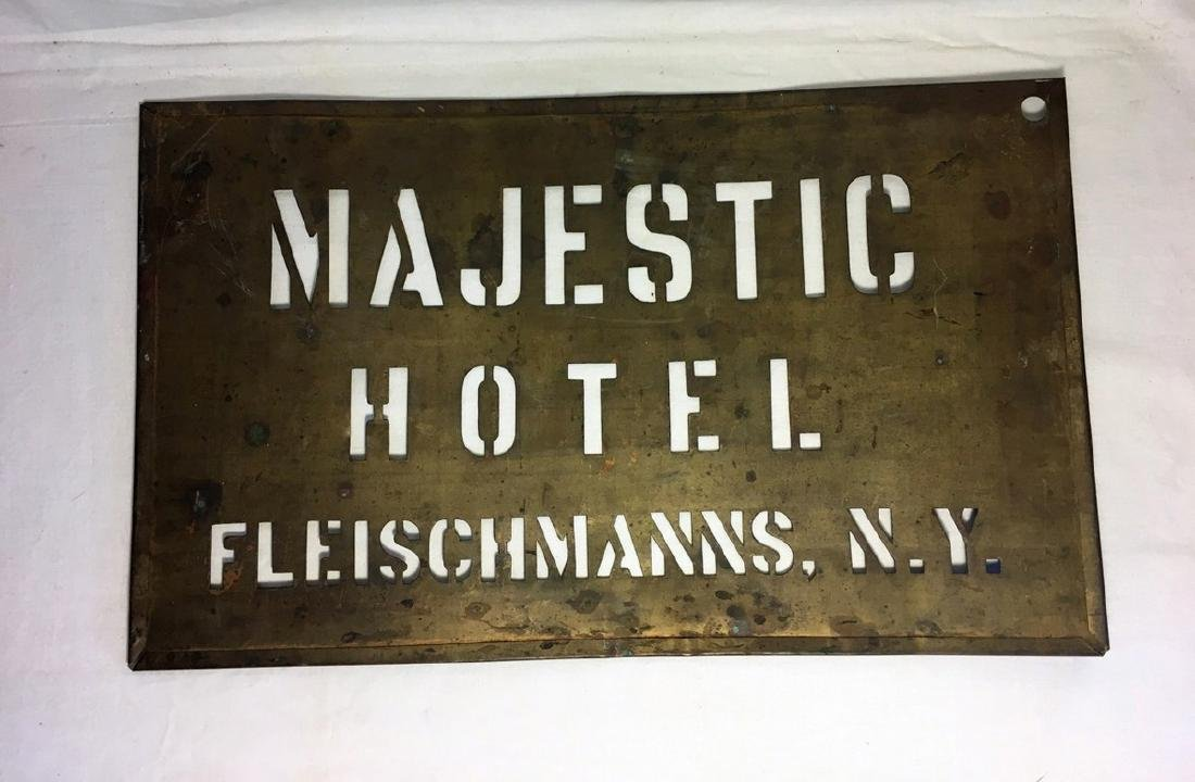 Early 20th Century Catskill Hotel Stencil Sign