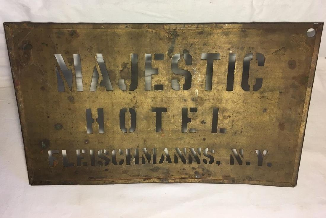 Early 20th Century Catskill Hotel Stencil Sign - 2