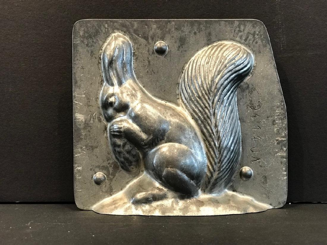 Early 20th Century Squirrel Chocolate Mold - 2