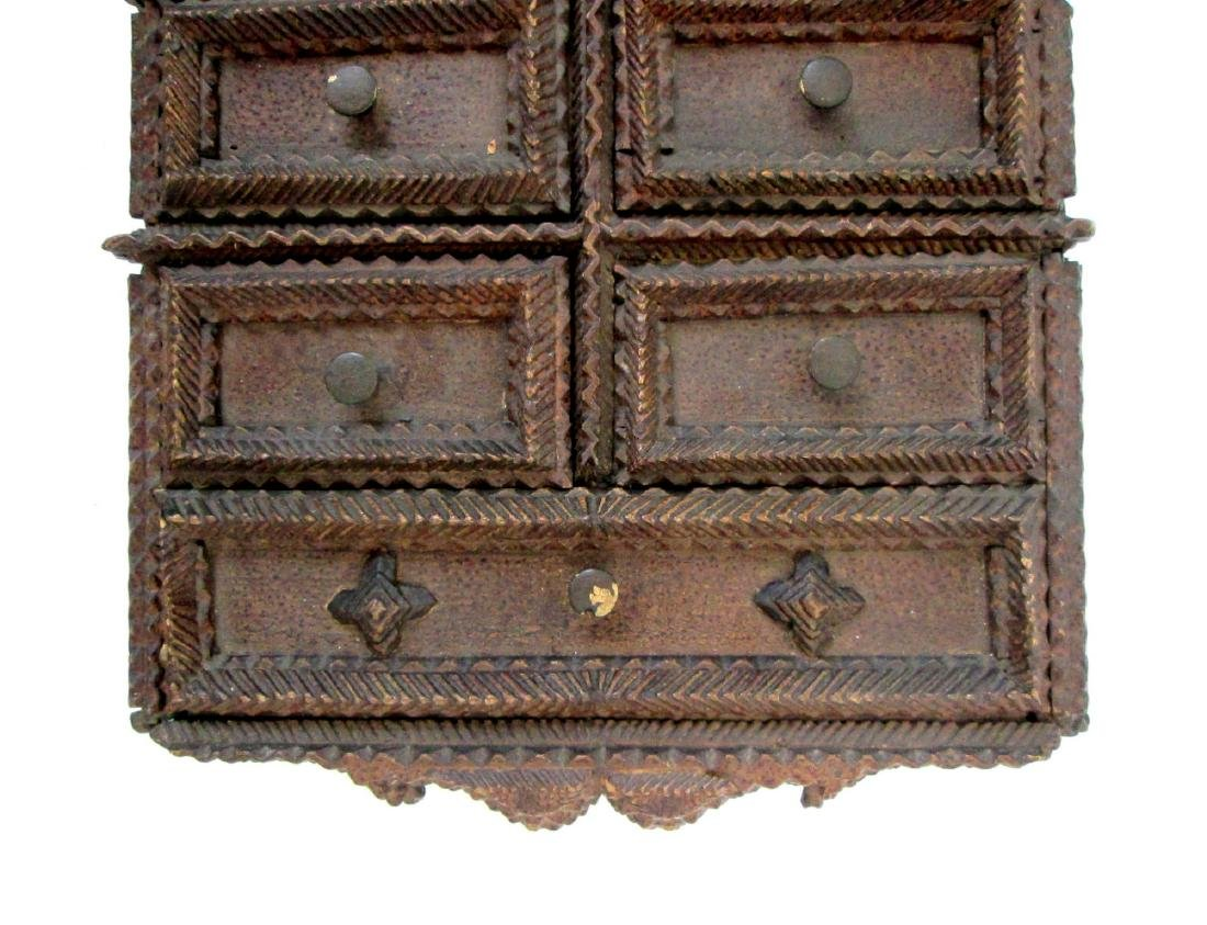 Tramp Art Painted Spice Chest Late 19th Century - 3
