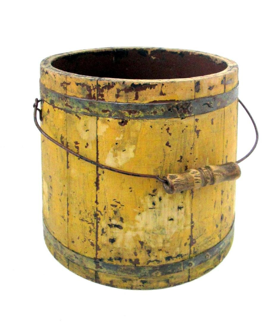 Chrome Yellow Tapered Bucket Late 19th Century