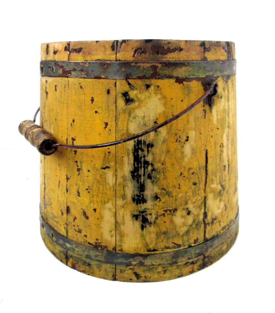 Chrome Yellow Tapered Bucket Late 19th Century - 2