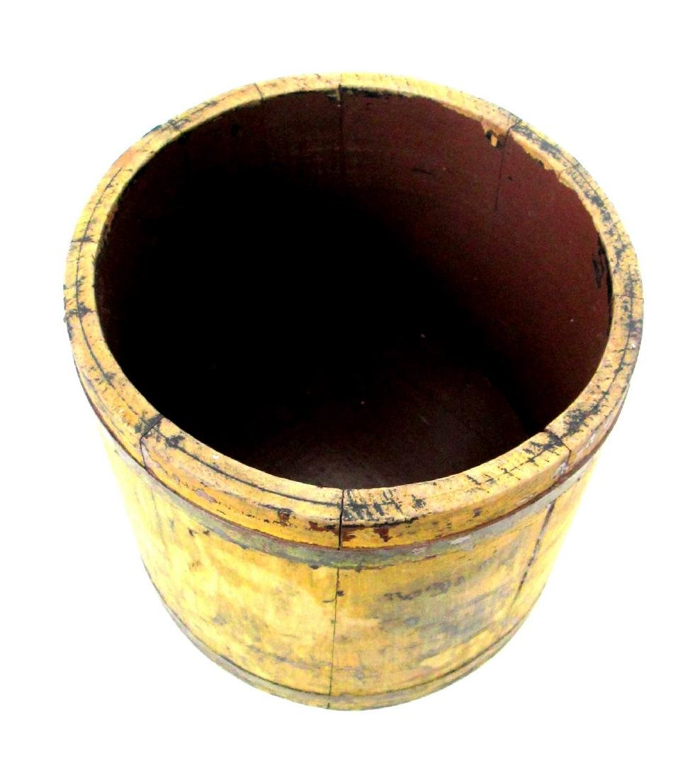 Chrome Yellow Tapered Bucket Late 19th Century - 3