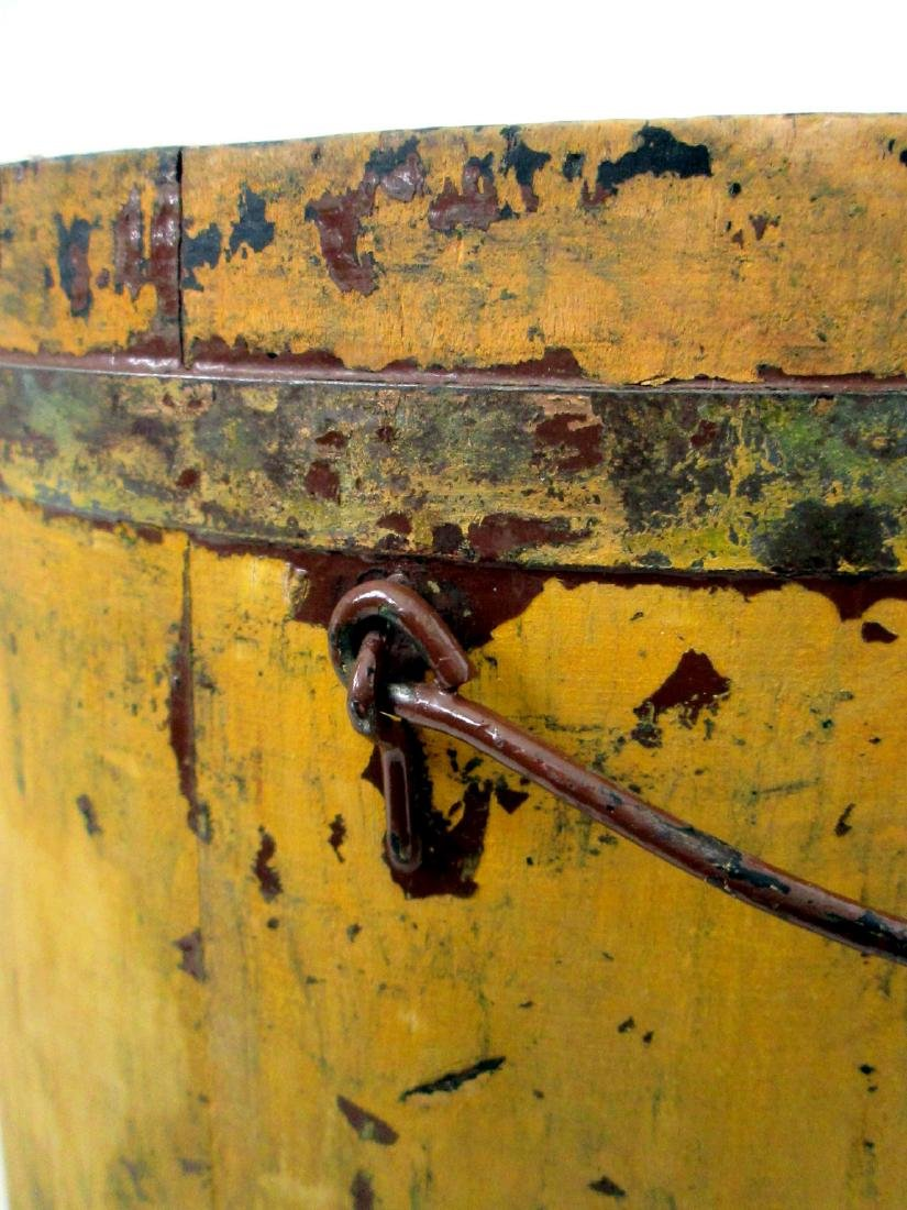 Chrome Yellow Tapered Bucket Late 19th Century - 5