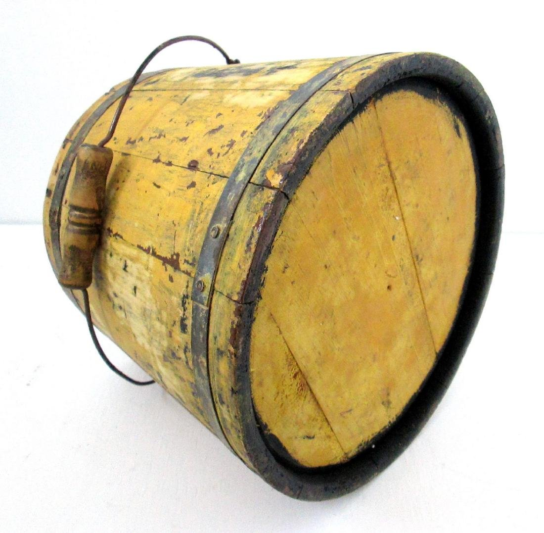Chrome Yellow Tapered Bucket Late 19th Century - 7