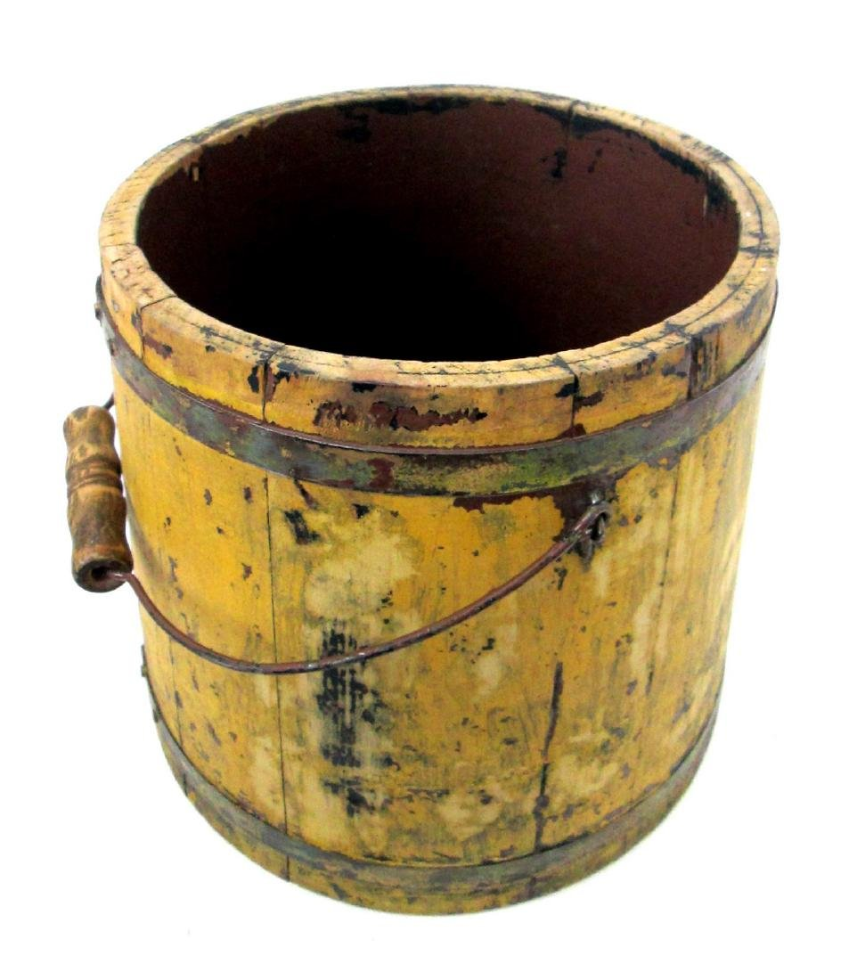Chrome Yellow Tapered Bucket Late 19th Century - 8