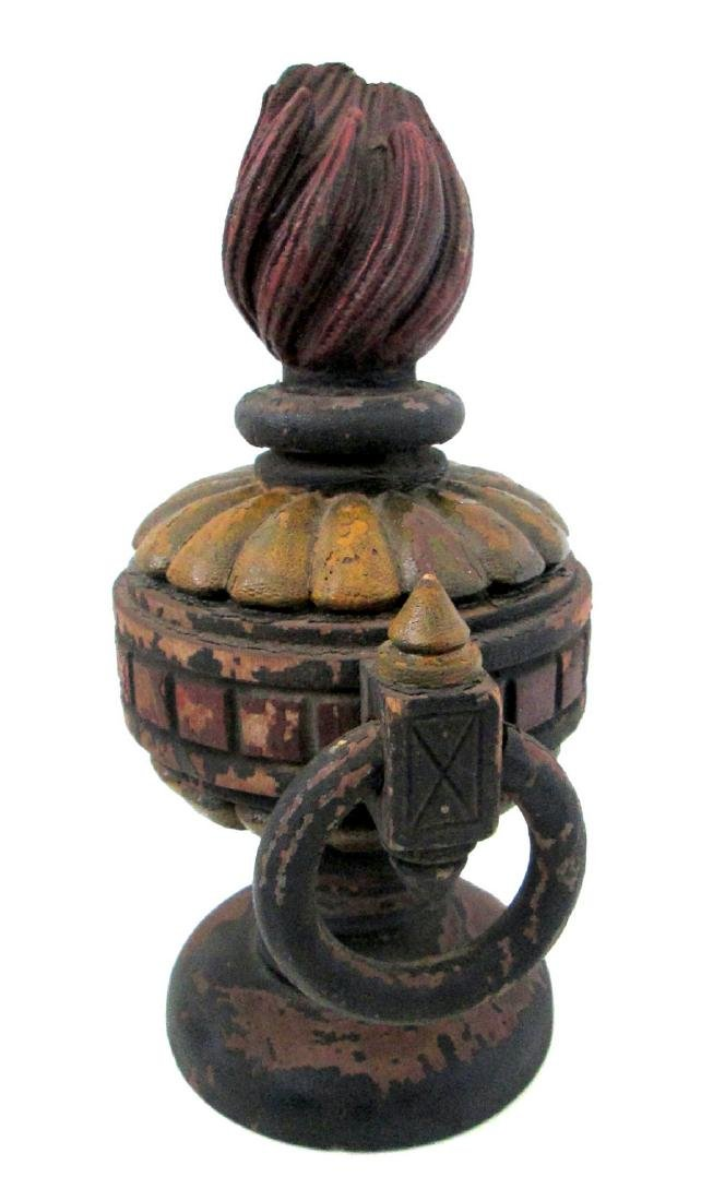 Painted Fraternal Urn Late 19th Century - 5