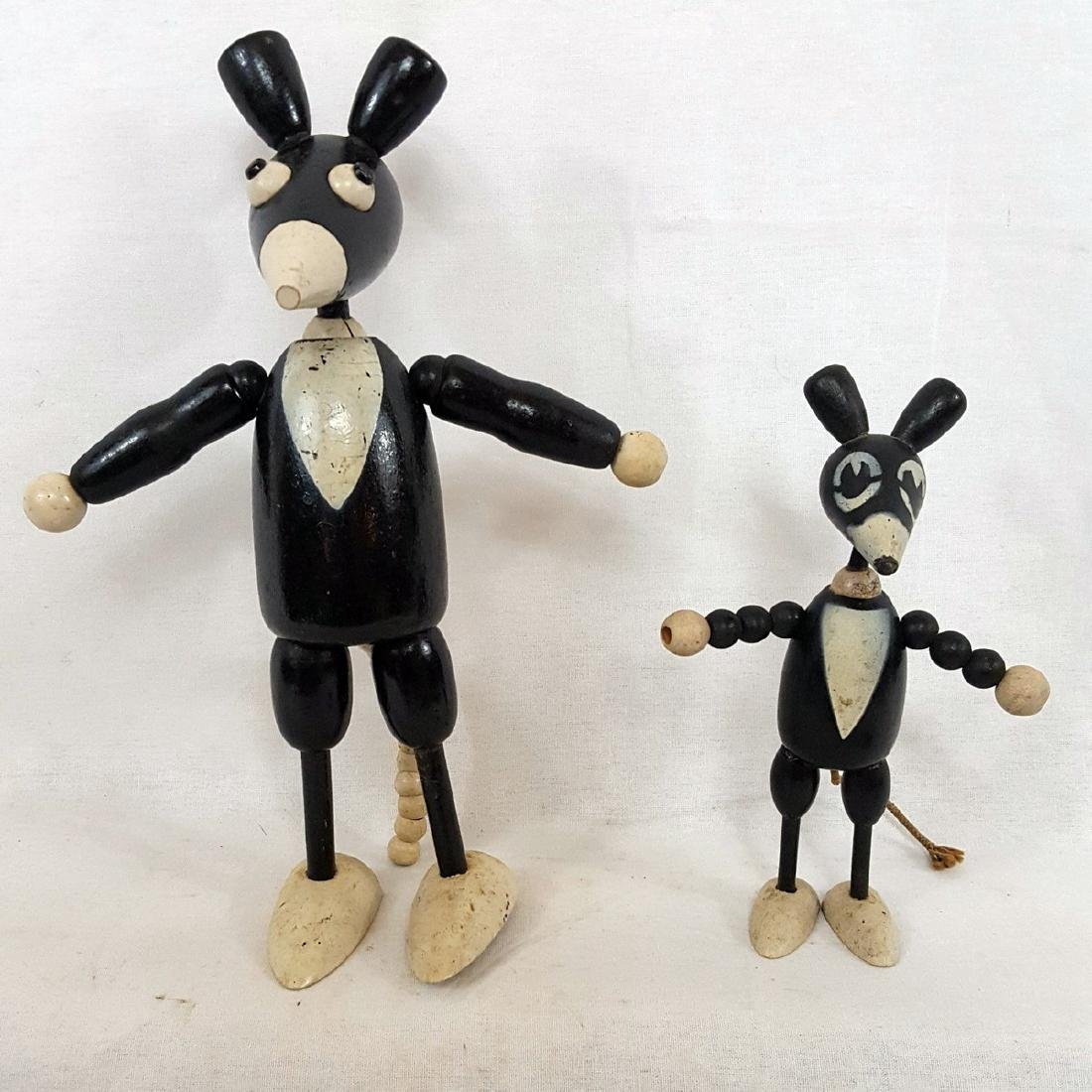 Early Mickey Mouse Articulated Wooden Toys Ca 1930's