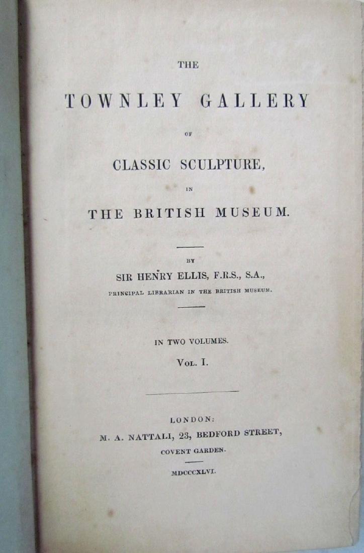 1846 2 Antique Vols Townley Gallery Classic Sculptures - 3