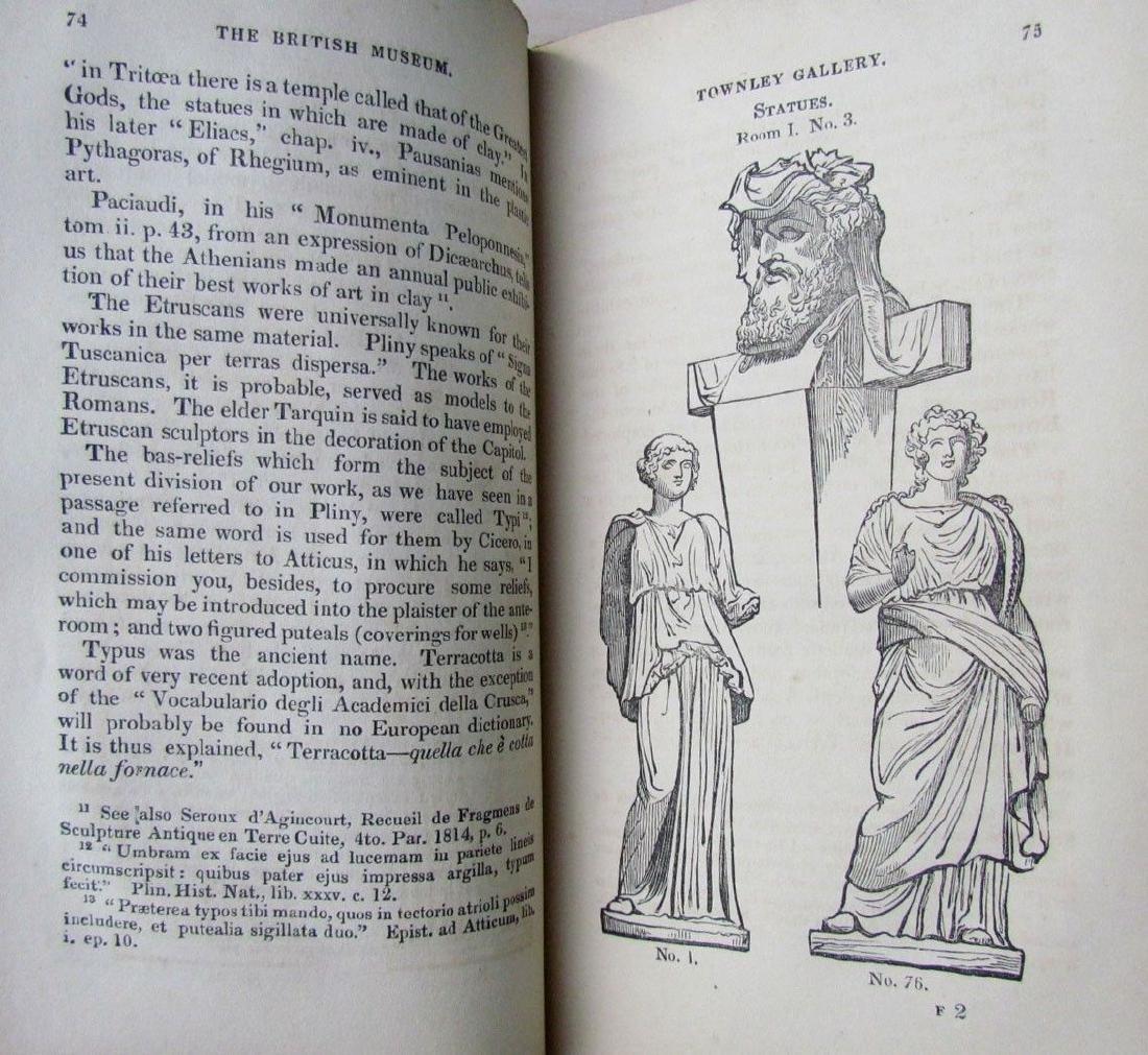 1846 2 Antique Vols Townley Gallery Classic Sculptures - 6