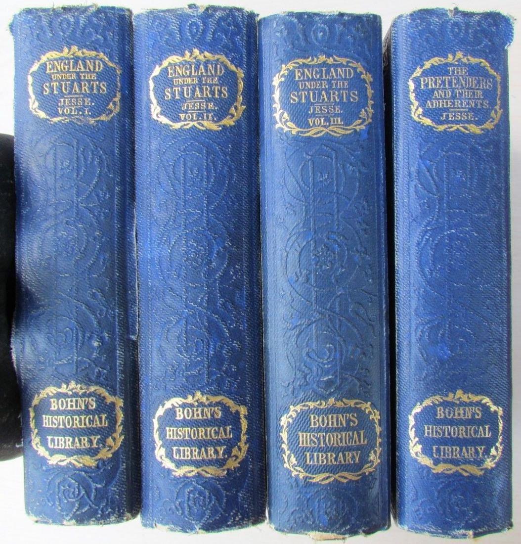 1857 Antique 4 Vol England Under Stuarts & Memoirs