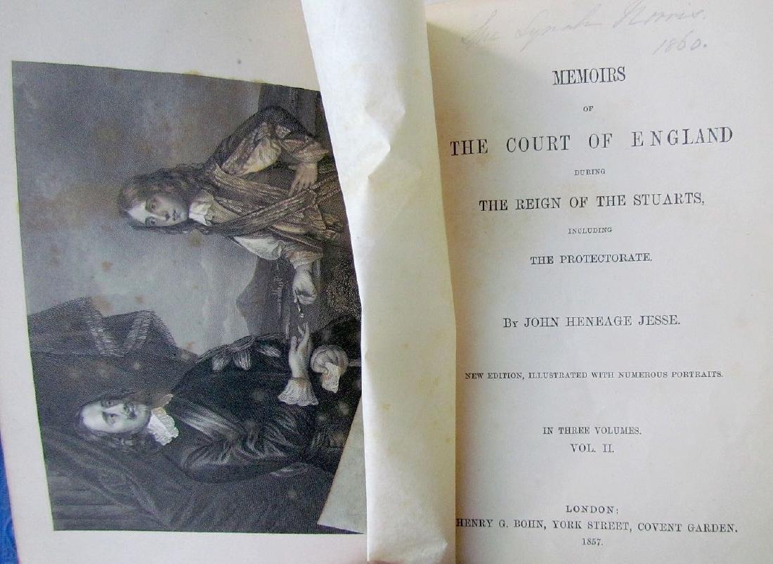 1857 Antique 4 Vol England Under Stuarts & Memoirs - 3