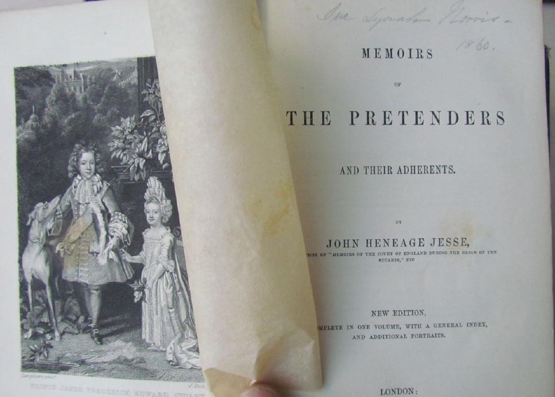 1857 Antique 4 Vol England Under Stuarts & Memoirs - 6