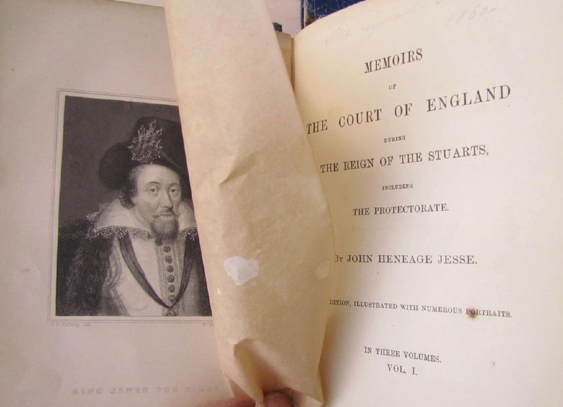 1857 Antique 4 Vol England Under Stuarts & Memoirs - 7