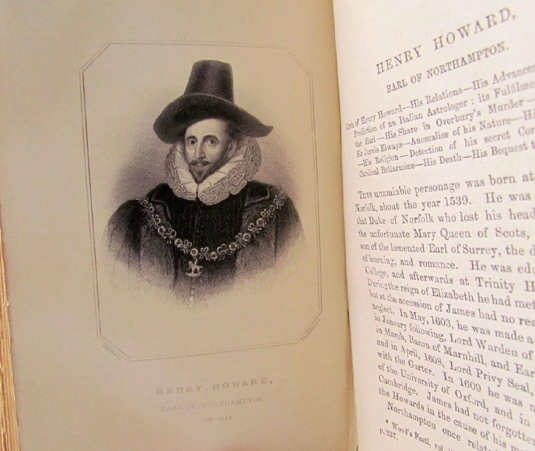 1857 Antique 4 Vol England Under Stuarts & Memoirs - 8