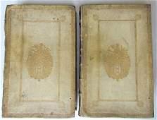 1726 2 Antique Vellum Bound Folios Josephus Flavius