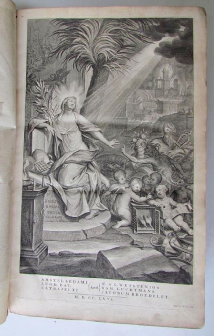 1726 2 Antique Vellum Bound Folios Josephus Flavius - 3