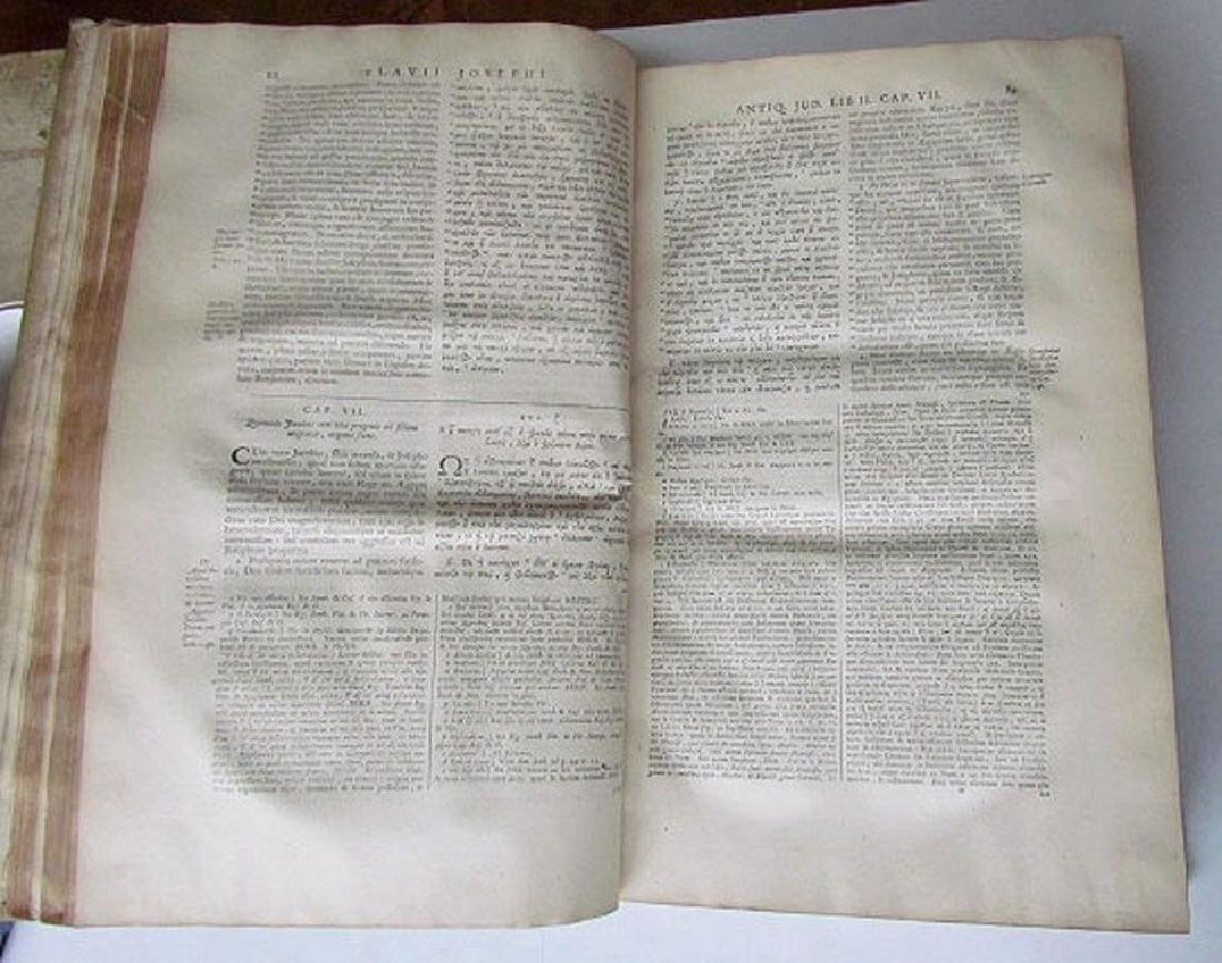 1726 2 Antique Vellum Bound Folios Josephus Flavius - 5