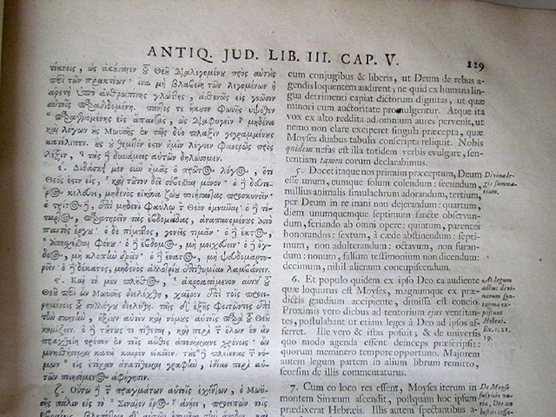 1726 2 Antique Vellum Bound Folios Josephus Flavius - 6