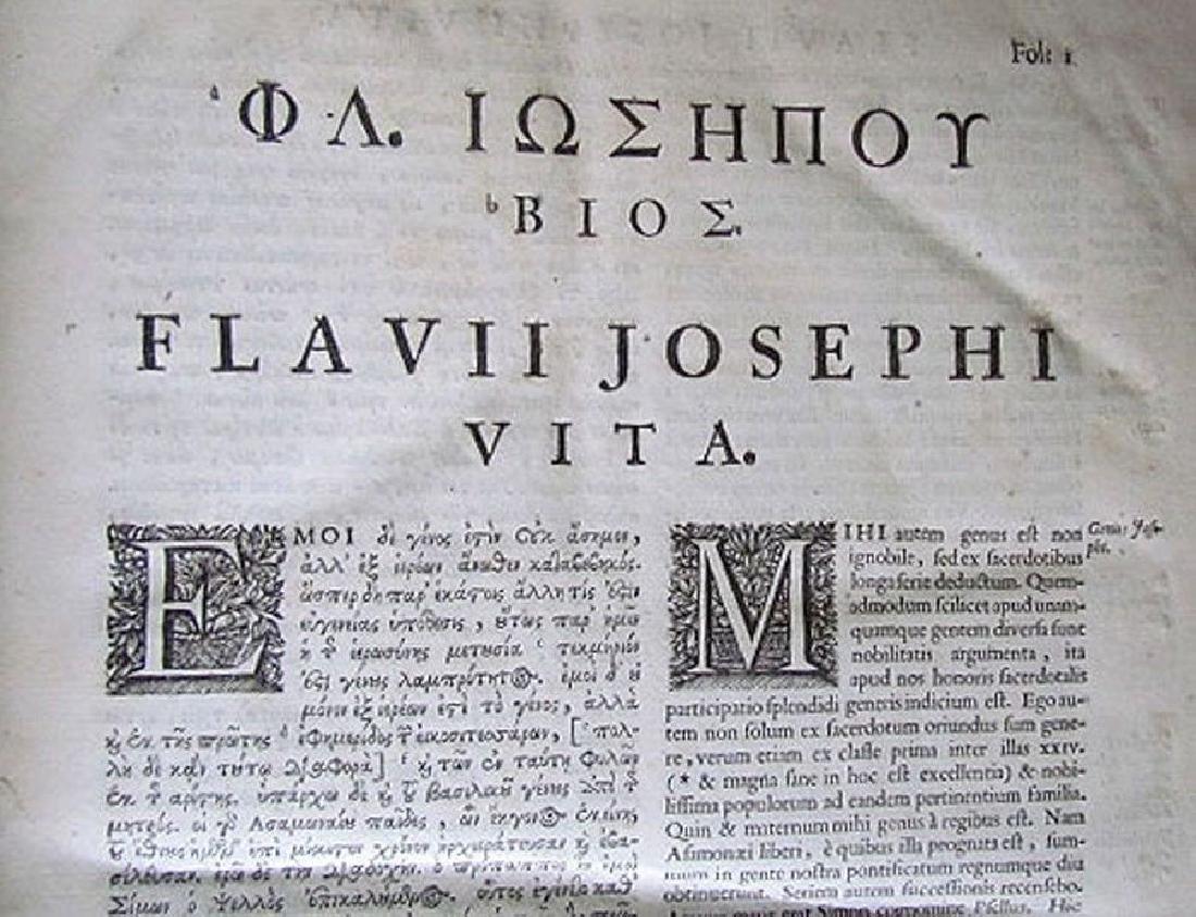 1726 2 Antique Vellum Bound Folios Josephus Flavius - 7