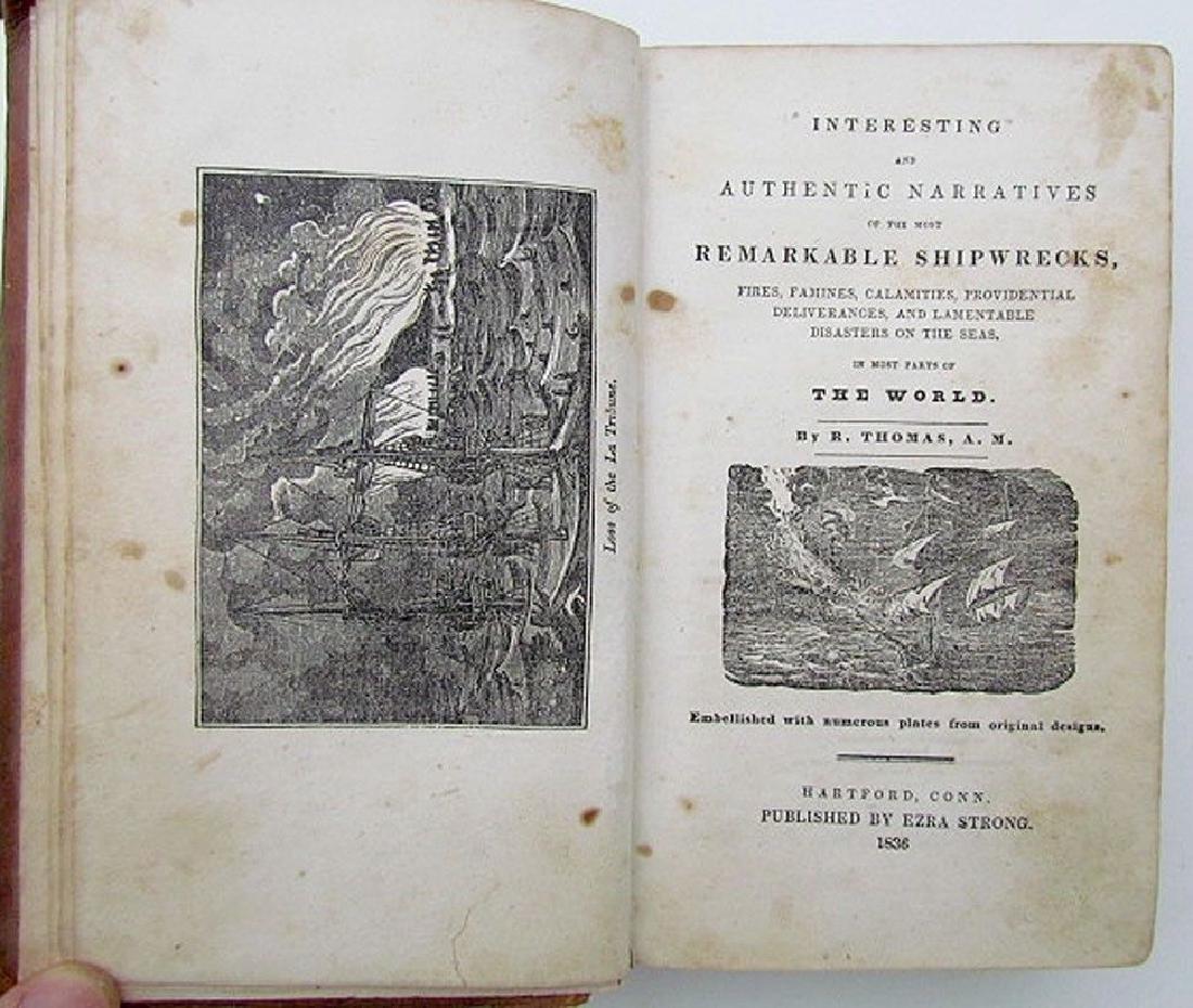 1836 Antique Narratives Most Remarkable Shipwrecks
