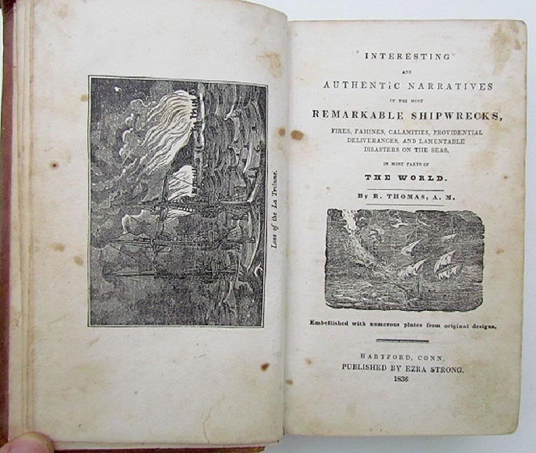 1836 Antique Narratives Most Remarkable Shipwrecks