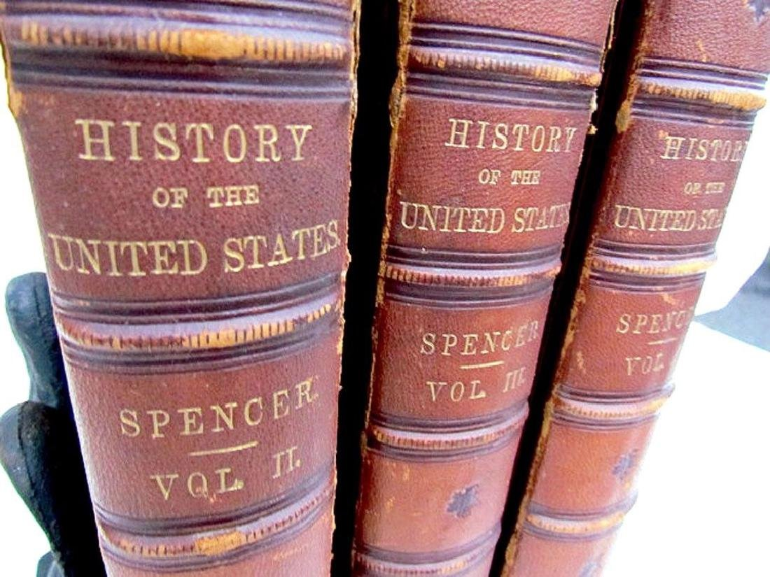 1868 3 Volumes United States History J.A. Spencer - 3