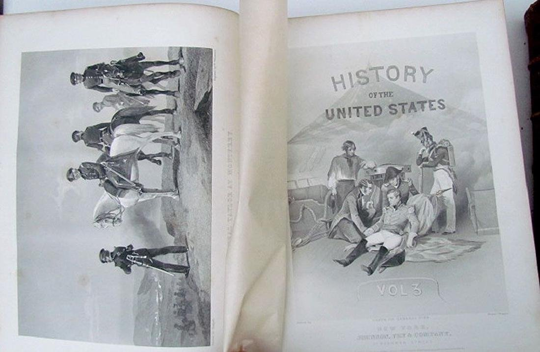 1868 3 Volumes United States History J.A. Spencer - 5