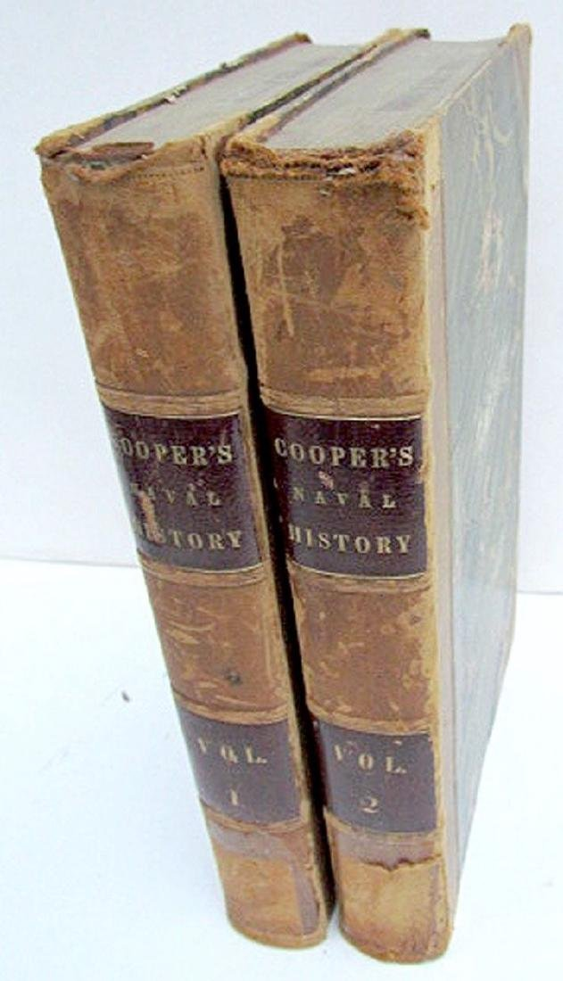 1840 2 Vol Naval History United States Fenimore Cooper