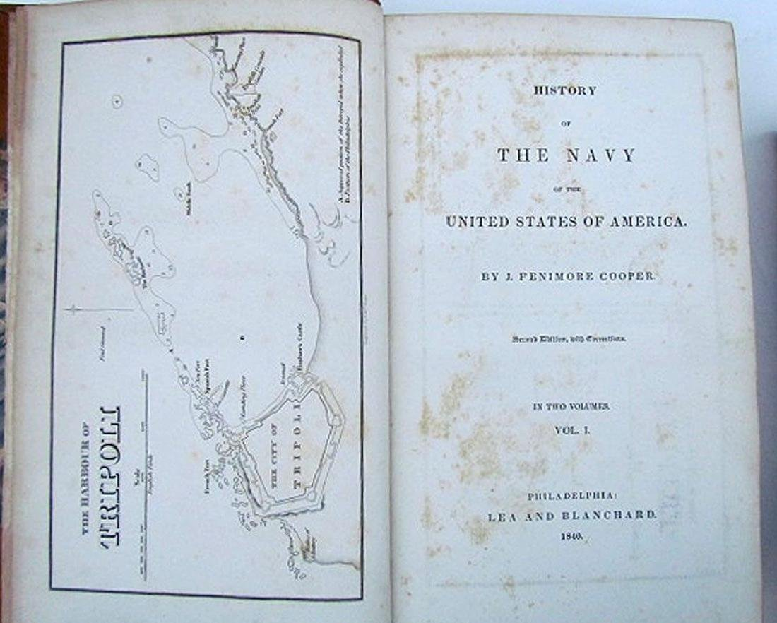 1840 2 Vol Naval History United States Fenimore Cooper - 5