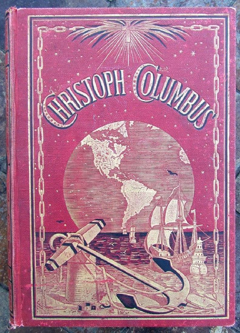 1888 Antique Book German Christopher Columbus