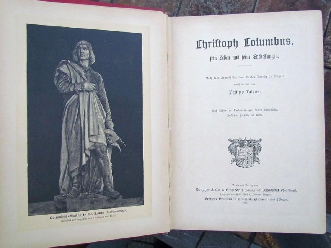 1888 Antique Book German Christopher Columbus - 2