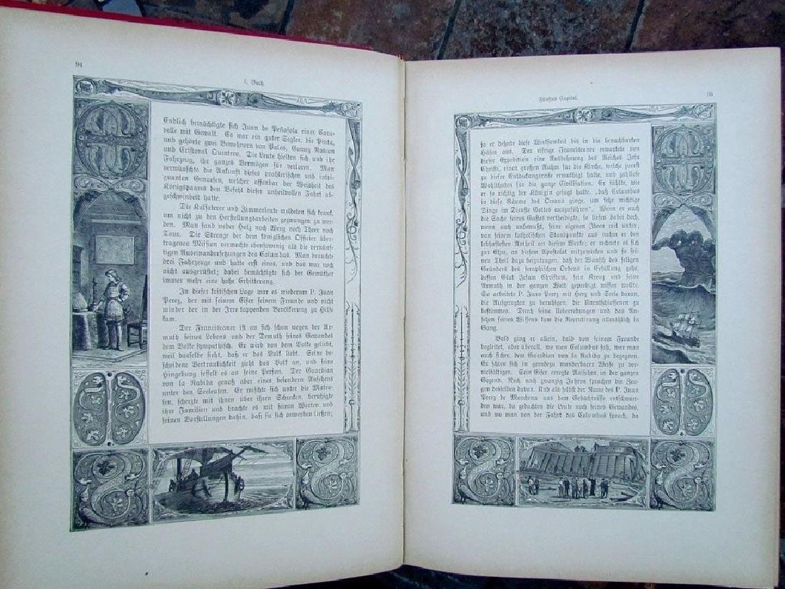 1888 Antique Book German Christopher Columbus - 3