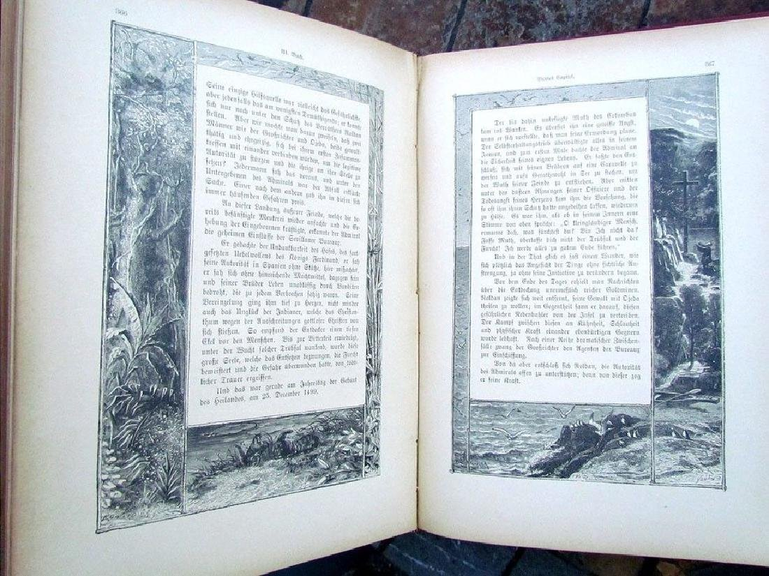 1888 Antique Book German Christopher Columbus - 4