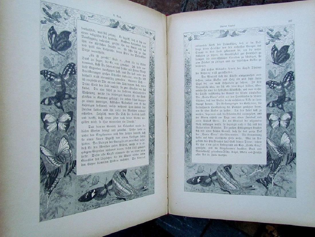1888 Antique Book German Christopher Columbus - 5