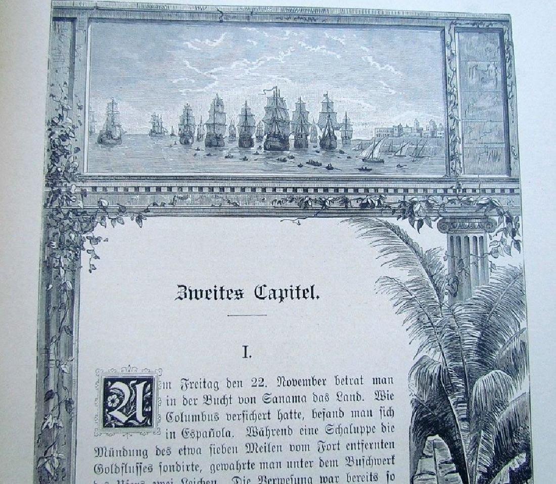 1888 Antique Book German Christopher Columbus - 6