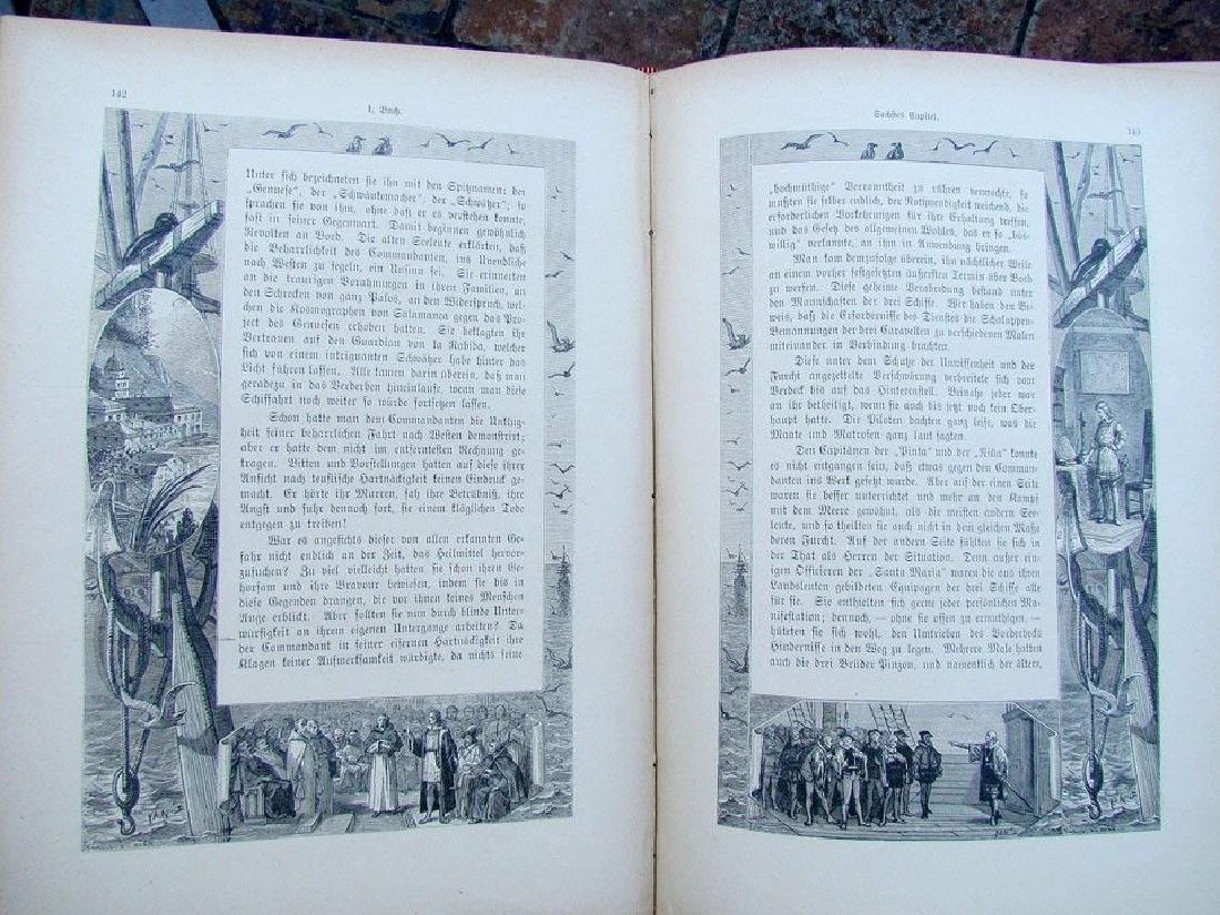 1888 Antique Book German Christopher Columbus - 8