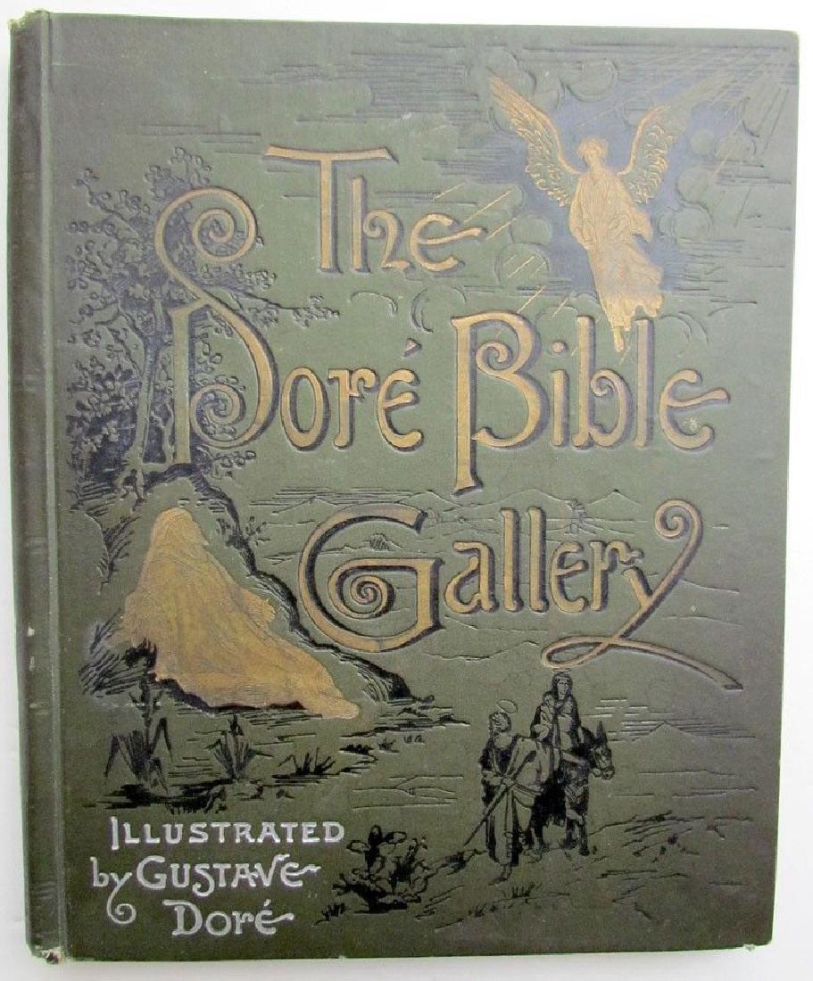 Antique 1880s Dore Bible Gallery Illustrated Folio