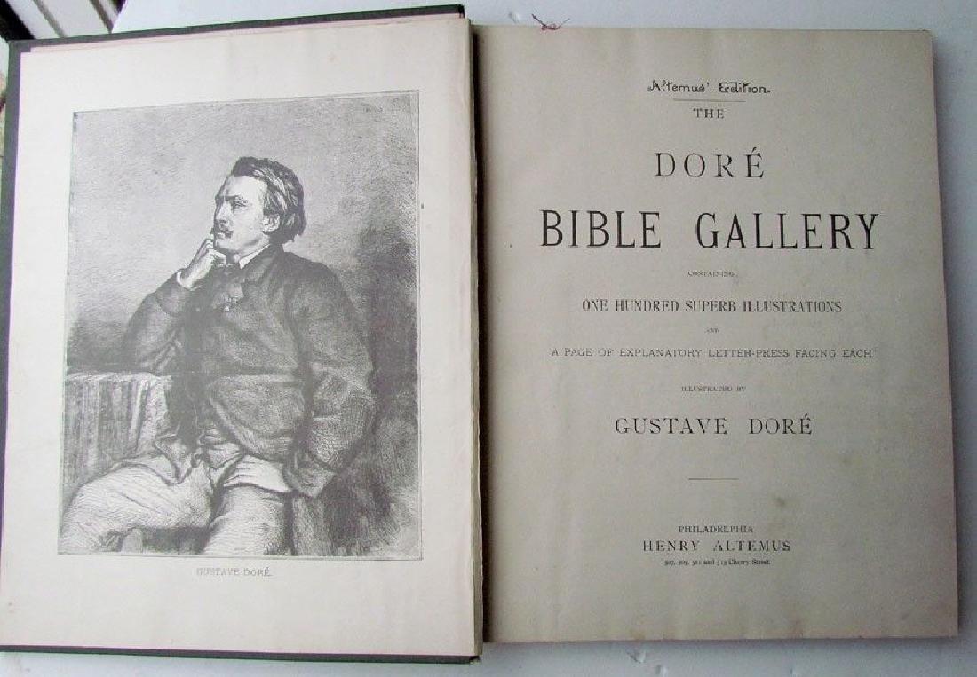 Antique 1880s Dore Bible Gallery Illustrated Folio - 2