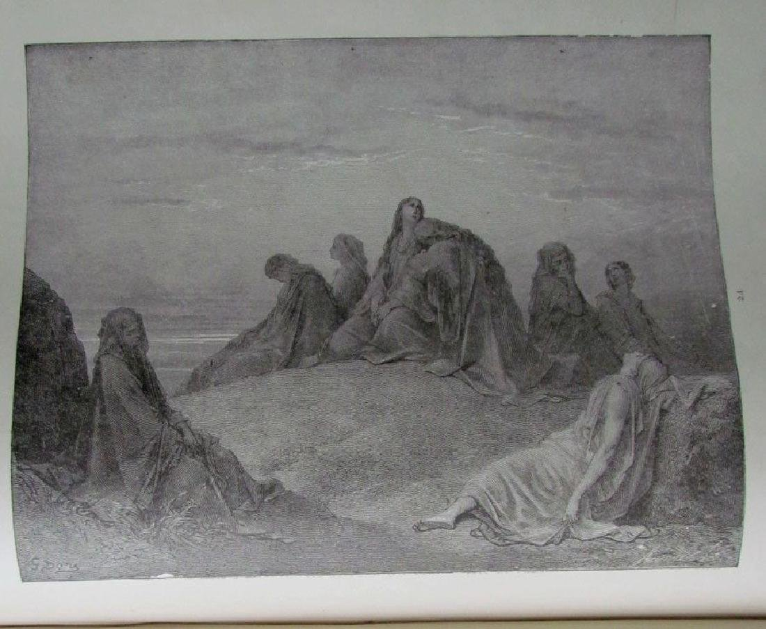 Antique 1880s Dore Bible Gallery Illustrated Folio - 4