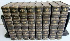 1881 8 Thomas Macaulay Essays & Poems Antique Leather