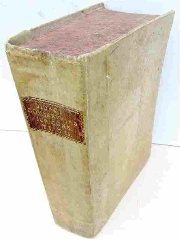 1571 Antique Vellum Bound Folio Didaci Covarruvias