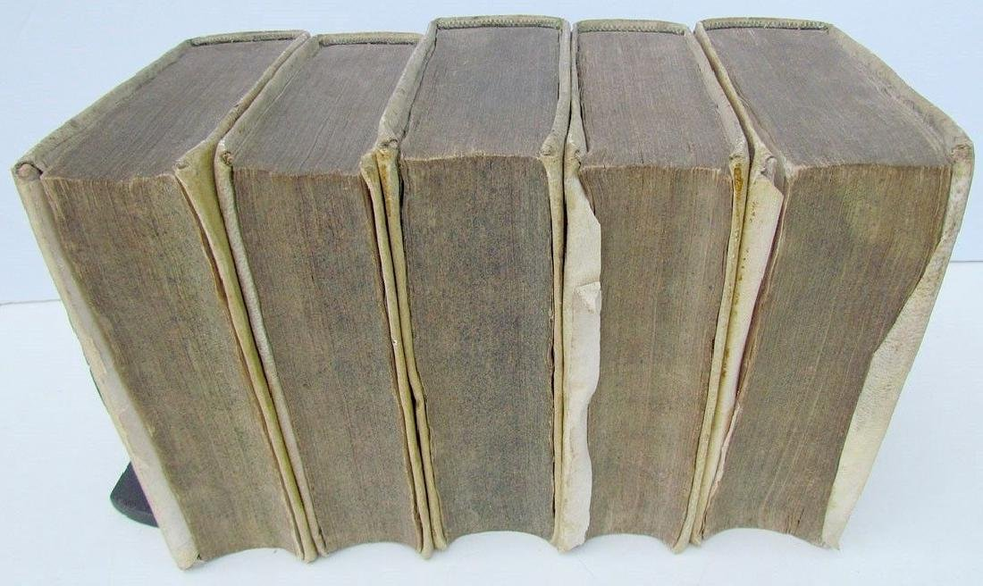 1673 5 Volumes Vellum Bound Antique Historical Essay - 3